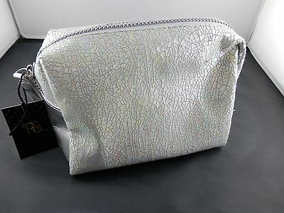 Primark by Atmosphere Kosmetiktasche perlmutt silber neu Strass Optik New