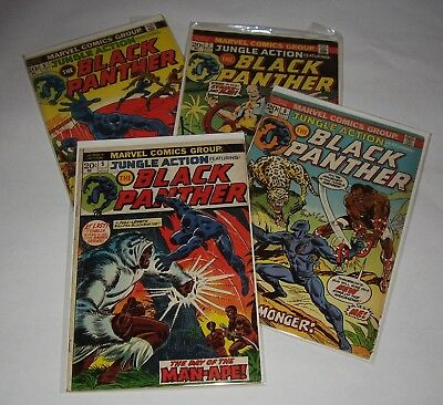 Marvel Jungle Action No. 5, 6, 7, 8 Lot (1973) BLACK PANTHER!