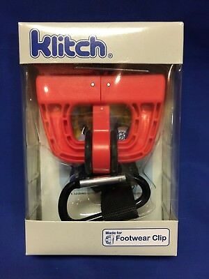 Klitch~Footwear Clip~Hangs Sports Shoes On Any Bag~Brand new in original package