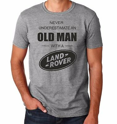 Land Rover t-shirt 70's retro never underestimate old man dad Xmas gift 04