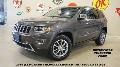 2015 Jeep Grand Cherokee 15 GRAND CHEROKEE LIMITED 4X2,NAV,BACK-UP CAM,HTD 15 GRAND CHEROKEE LIMITED 4X2,NAV,BACK-UP CAM,HTD LTH,18IN WHLS,9K,WE FINANCE!!