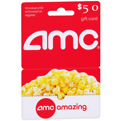 Cheap AMC Theatres gift card VALUE $50 35% OFF Only Today!!!