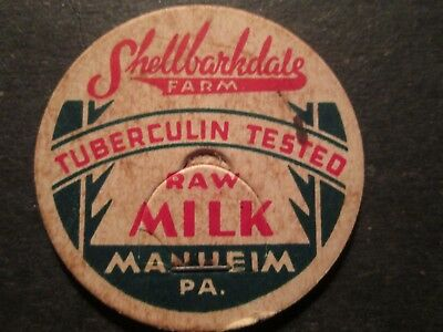Milk Bottle Cap Shellbarkdale Farm Manheim Pa