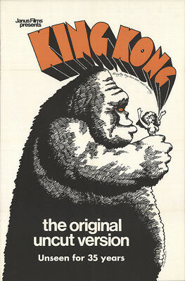 King Kong 1968 27x41 Orig Movie Poster FFF-25037 Rolled Fine Bruce Cabot Horror