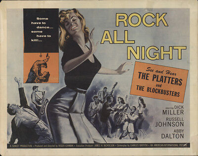 Rock All Night 1957 22x28 Orig Movie Poster FFF-20737 Jeanne Cooper