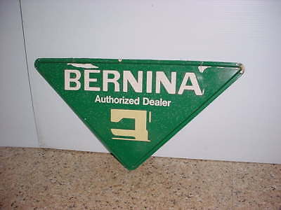 """Rare Find A  BERNINA Dealer Sewing Machine sign 20"""" by 10"""" Sturdy Molded Plastic"""