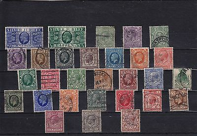 Great Britain - King George V used stamps