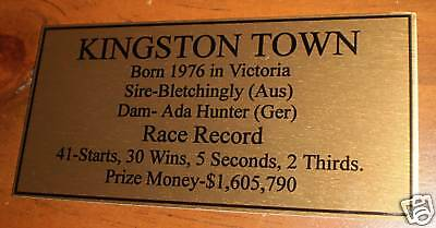 Kingston Town Gold Plaque **Free Postage