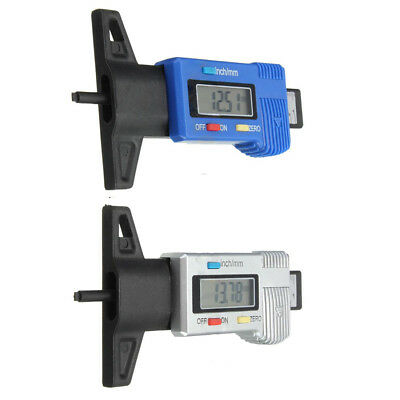 LCD Display Digital Tyre Tire Tread Depth Gauge Brake Pad Tester Caer 0-25m N3M9