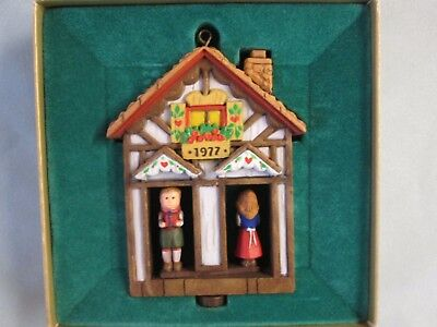 "1977 Hallmark Twirl-About ""WEATHER HOUSE"" Tree Trimmer Collection Ornament w/Box"