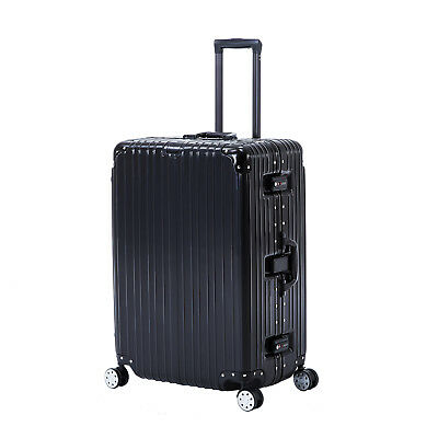 20'' Black Luggage Travel Bag Trolley Case Box Carry On Suitcase with 4 Wheels
