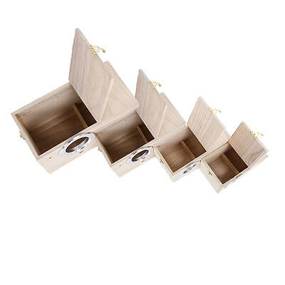Wood Solid Nest Box / Nesting Boxes For Small Birds, Budgies & Finches