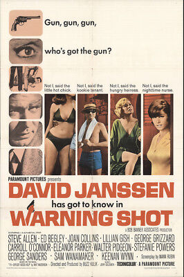 Warning Shot 1966 27x41 Orig Movie Poster FFF-24154 Keenan Wynn U.S. One Sheet