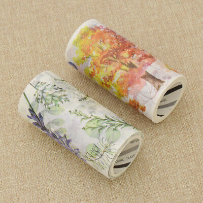 DIY Paper Spring Autumn Nature Leaf Large Size Washi Tape Paper Poster Stickers