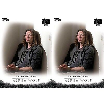 2x SELECTS IN MEMORIAM ALPHA WOLF Topps Walking Dead Trader Digital Card