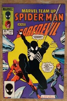 Marvel Team-Up #141 w/ Spider-Man, DareDevil.  (1st black costume tied with 252)