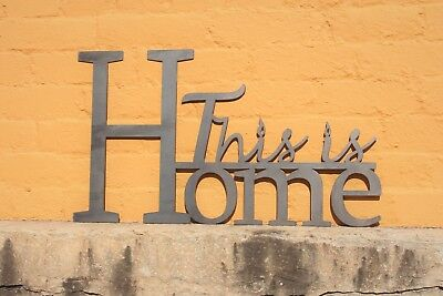 Metal Word Sign, This is Home, Home Décor, Wall Art, Christmas Gift