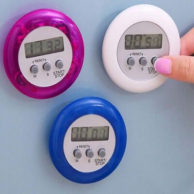 LCD Digital Magnetic Cooking Kitchen Timer Count-Down Up Clock Loud Alarm Good