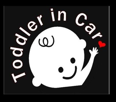 Toddler in Car Safety Decal for cars and trucks