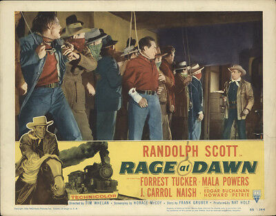 Rage at Dawn 1955 11x14 Orig Lobby Card FFF-28406 Randolph Scott Western