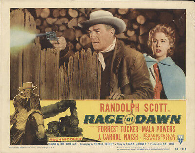 Rage at Dawn 1955 11x14 Orig Lobby Card FFF-28403 Randolph Scott Western