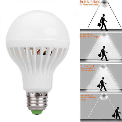 Bombilla LED Voice sensor Detector Light E27 Lámparas Lamp Bulb Acrylic AC 220V