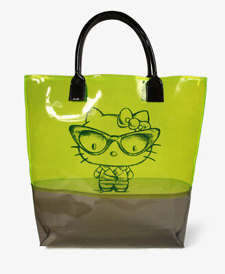 Nerdy Hello Kitty Clear Green Tote