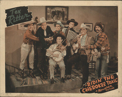 Ridin' the Cherokee Trail 1941 11x14 Orig Lobby Card FFF-28841 Tex Ritter Wes...