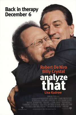 Analyze That 2002 27x41 Orig Movie Poster FFF-29515 Rolled Fine Robert De Niro