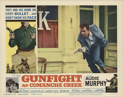 Gunfight at Comanche Creek 1963 11x14 Orig Lobby Card FFF-28256 Fine, Very Fine