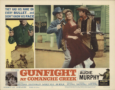 Gunfight at Comanche Creek 1963 11x14 Orig Lobby Card FFF-28255 Fine, Very Fine