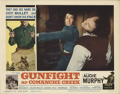 Gunfight at Comanche Creek 1963 11x14 Orig Lobby Card FFF-28252 Fine, Very Good