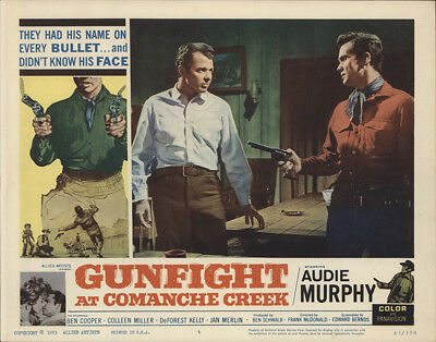 Gunfight at Comanche Creek 1963 11x14 Orig Lobby Card FFF-28250 Fine, Very Good