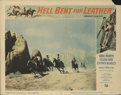 Hell Bent for Leather 1960 11x14 Orig Lobby Card FFF-28230 Audie Murphy Western