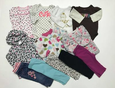 LOT OF 12 PCS MIX FALL/WINTER CLOTHES, BABY GIRL'S 6-12 Months