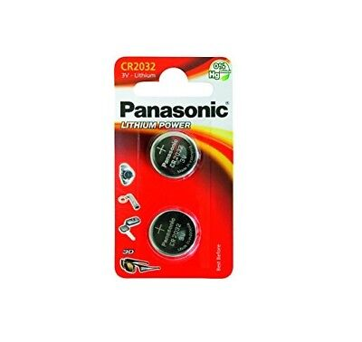 2 Panasonic CR2032 Lithium Coin Cell 3V Battery Car Key Fobs Toys Remote
