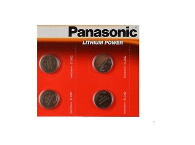 4x Panasonic CR2032 Lithium Coin Cell 3V Battery Car Key Fobs Toys Remote
