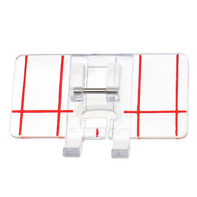 Parallel Stitch Foot Presser Plastic Clear Domestic Sewing Machine Universal