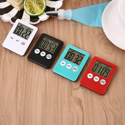 LCD Magnetic Timer Digital Run Counter Home Kitchen Cooking Alarm Magnet Timer
