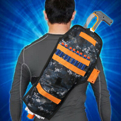Tactical Back Holster Pouch Storage Bag For Nerf Elite Accessory Kids Outdoor UK
