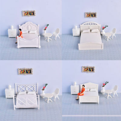 Model Bed Miniature Dollhouse Furniture1:20,1:25 & 1:30 DIY Model Material