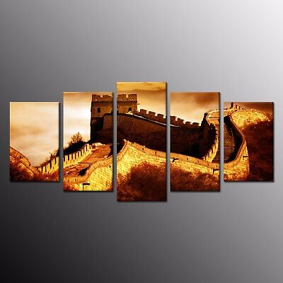 5 Pieces Canvas Print Great Wall Canvas Painting Picture Wall Art Home Decor