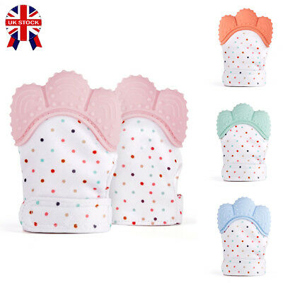 Silicone Baby Mitt Teething Mitten Teething Glove Wrapper Teether Safety Soft ##