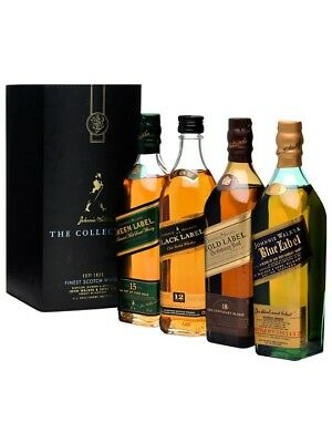 "Johnnie Walker Collection ""Series 3"" Very Rare. (4 x 200 mL Bottles)."