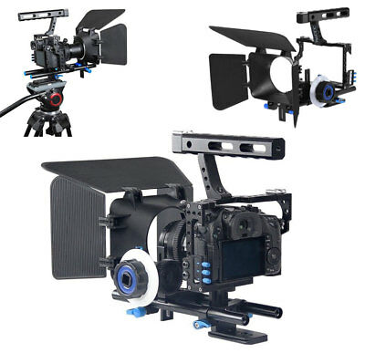 Metal Handle SLR Rig Stabilizer Video Camera Cage & Follow Focus for Sony A7 A7R