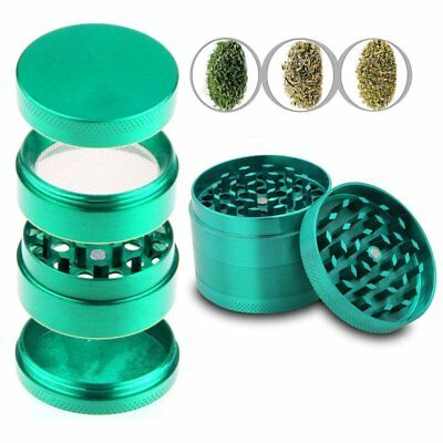 Tobacco Herb Spice Grinder Alloy Smoke Crusher 44mm Hand Metal Chromium Crusher