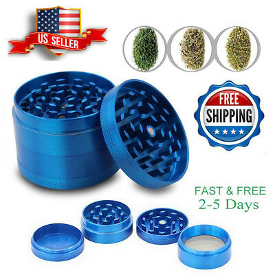 Tobacco Herb Grinder Spice Herbal Alloy Smoke 4 Piece Metal Hand Crusher Muller
