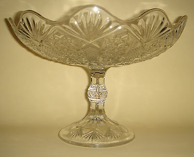 Depression Glass Comport Lolly Cake Pedestal Stand English c.1910 - Classic