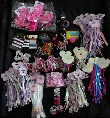 Wholesale job lot Girl's Hair Accessories x 83 cards - headbands bobbles slides