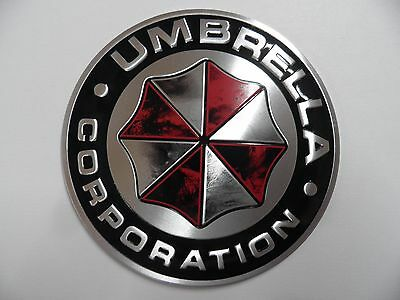 UMBRELLA - Corporation, Alu 3D Sticker, Aufkleber, Resident Evil Emblem, Logo